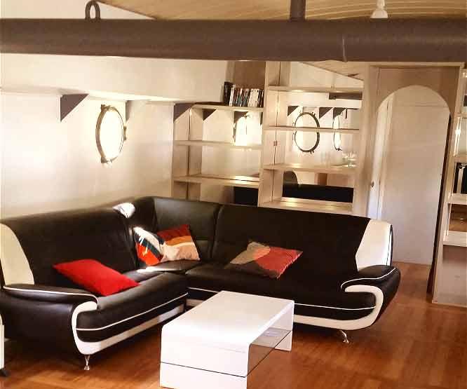 p niche habitable 38m en vente sur canal du midi. Black Bedroom Furniture Sets. Home Design Ideas